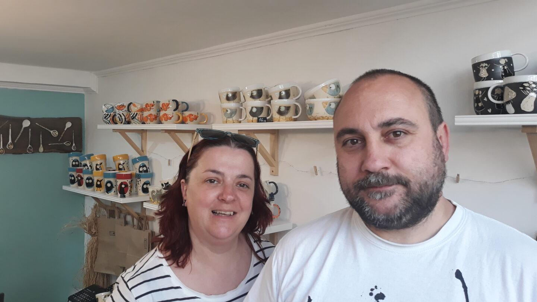 Венцислава и Иван от семейното ателие за керамика Pileto